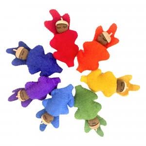Papoose Toys Eikel Baby's Rainbow (7 stuks)