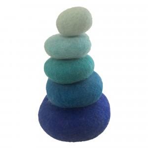 Papoose Toys Stapelset Blauw (5 stuks)