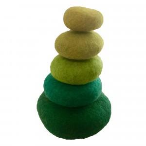 Papoose Toys Stapelset Groen (5 stuks)