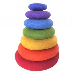 Papoose Toys Rainbow Stapelset (klein/7stuks)