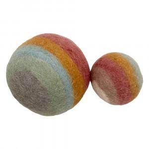 Papoose Toys Earth Regenboog Ballen (2 stuks)