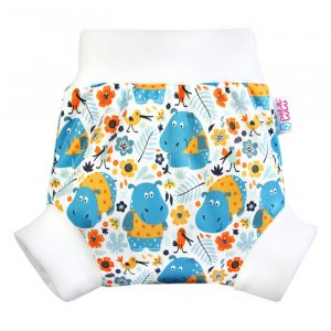 Petit Lulu Pull-Up Overbroekje Medium Hippos
