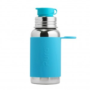 Pura Sportfles 550ml met Sleeve Aqua