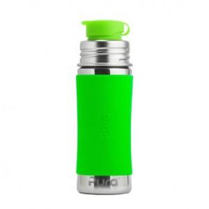 Pura Sportfles 325ml met Sleeve Groen