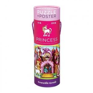 Crocodile Creek Poster/Puzzle Paleis Prinses (200 stukken)