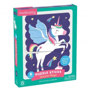 Mudpuppy Puzzel Sticks Unicorn Magic