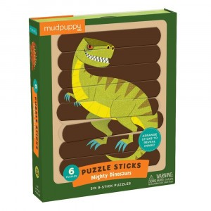 Mudpuppy Puzzel Sticks Mighty Dinosaurs