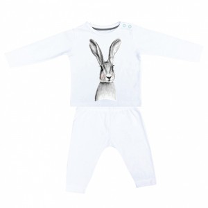 Miss Princess and Little Frog Pyjama in Tencel Lange  Mouw Konijn