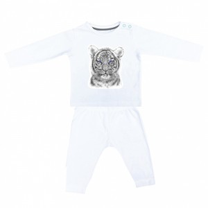 Miss Princess and Little Frog Pyjama in Tencel Lange  Mouw Tijger