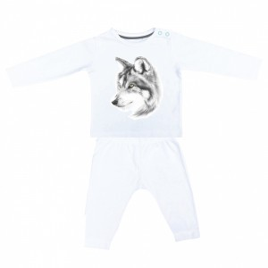 Miss Princess and Little Frog Pyjama in Tencel Lange  Mouw Wolf