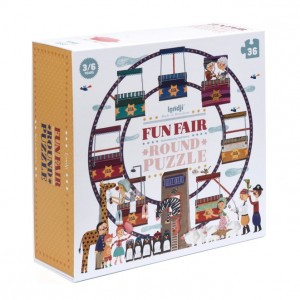 Londji Ronde Puzzel 'Fun fair'