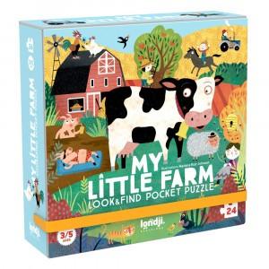 Londji Zoek en Vind Pocket Puzzel 'My little Farm'