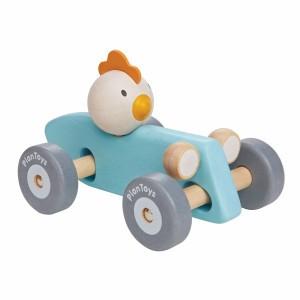 PlanToys Kip Racewagen Pastel