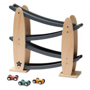 Kid's Concept Racebaan Natuur/Grijs Aiden