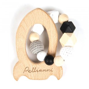 Pellianni Bijtring Raket Wit/Zwart