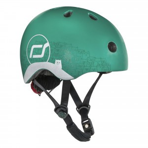 Scoot and Ride Helm XS - Reflective Forest