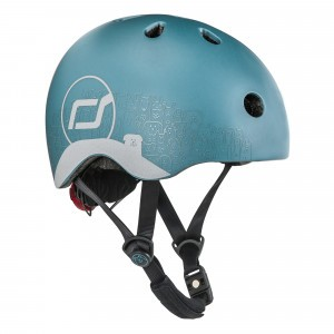Scoot and Ride Helm XS - Reflective Steel