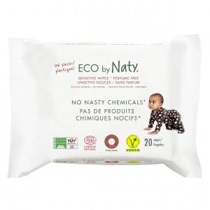 Naty Eco Vochtige doekjes (20 stuks) - Reisverpakking