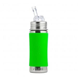 Pura Kiki Rietjesfles 325ml met Sleeve Groen