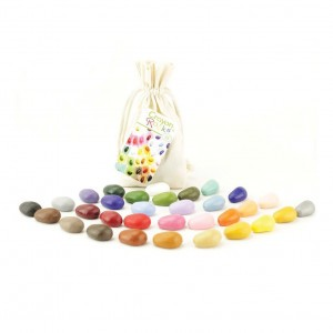 Crayon Rocks Sojawaskrijtjes in een ecru katoenen zakje (32 stuks)