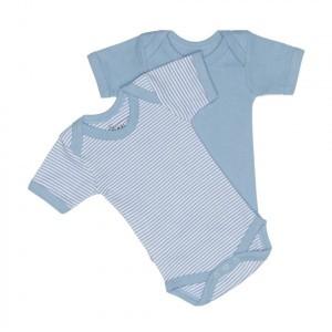 Isi Mini Teddy Body korte mouwen blauw / streep