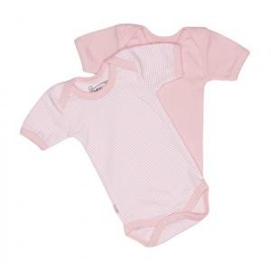 Isi Mini Teddy Body korte mouwen roze / streep