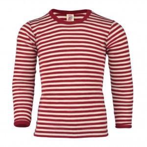 Engel Wollen Shirt lange mouw Rood/Natuur (maat 92)