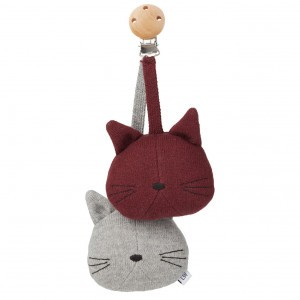 Liewood Wandelwagenspeelgoed Kat Grijs