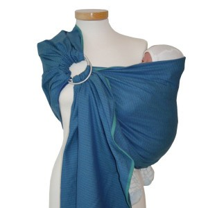 Storchenwiege Ring Sling Leo Turquoise