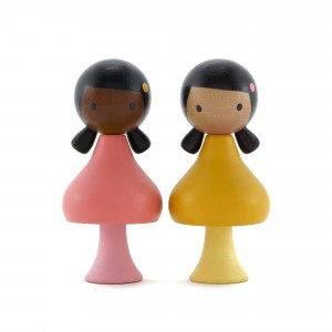 Clicques Houten Magneetfiguurtjes Ruby & Coco