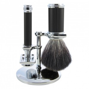 Edwin Jagger Scheer Set, Ebony & Chrome