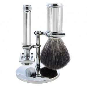 Edwin Jagger Scheer Set, Chrome Lined