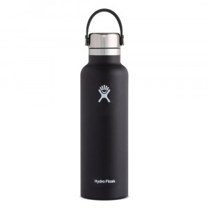 Hydro Flask Insulated Drinkfles Standard Mouth w/ Stainless Steel Cap (621 ml) Black