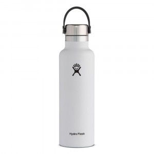 Hydro Flask Insulated Drinkfles Standard Mouth w/ Stainless Steel Cap (621 ml) White