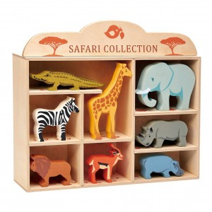 Tender Leaf Toys Set Houten Safaridieren