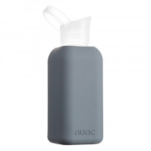Nuoc Glazen Drinkfles Salt Dark Grey (500 ml)