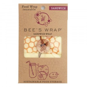 Bee's Wrap Herbruikbare Food Wrap Bijenwasfolie Sandwich (1 stuk)