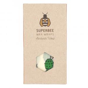 Superbee Herbruikbare Waxwraps Bijenwasfolie Sandwich (1 stuk)