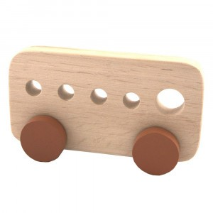 Pinch Toys Houten Duwfiguur Maxi Schoolbus