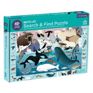Mudpuppy Puzzel Search & Find Artic Life (64 stukken)