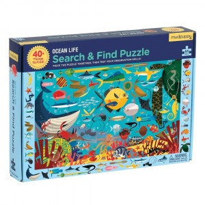 Mudpuppy Puzzel Search & Find Ocean Life (64 stukken)