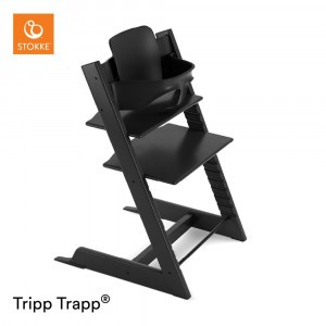 Stokke Tripp Trapp Stoel Black + Babyset Black
