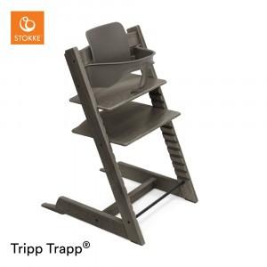 Stokke Tripp Trapp Stoel Hazy Grey + Babyset Hazy Grey