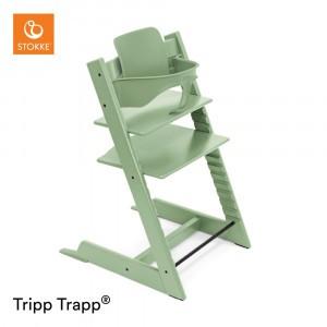 Stokke Tripp Trapp Stoel Moss Green + Babyset Moss Green