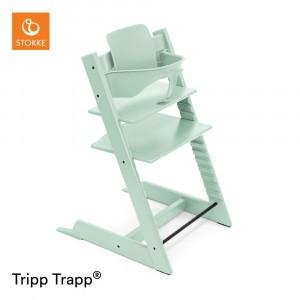 Stokke Tripp Trapp Stoel Soft Mint + Babyset Soft Mint