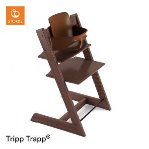 Stokke Tripp Trapp Stoel Walnut + Babyset Walnut