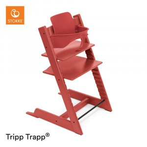 Stokke Tripp Trapp Stoel Warm Red + Babyset Warm Red