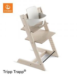 Stokke Tripp Trapp Stoel Whitewash + Babyset White