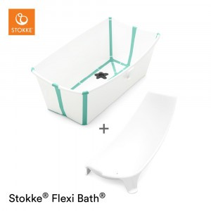Stokke Flexi Badje White Aqua Set (inclusief Newborn Support)