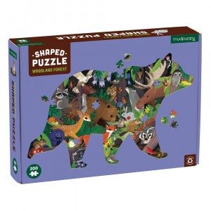 Mudpuppy Puzzel Shaped Woodland Forest (300 stukken)